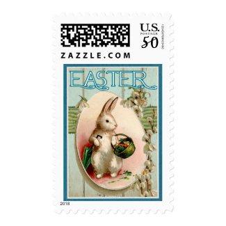 Vintage Easter Bunny Illustration Postage