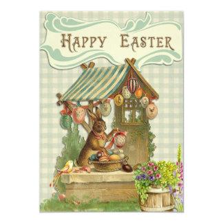 Vintage Easter Bunny Invitation