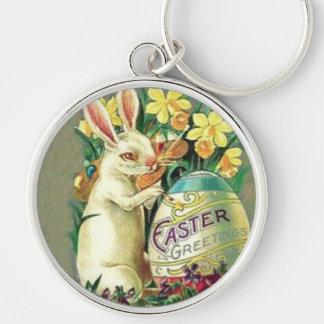 Vintage Easter Bunny Keychain