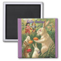 Vintage Easter Bunny Magnet magnet