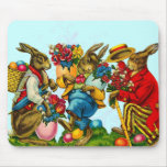 Vintage Easter Bunny mouse pad