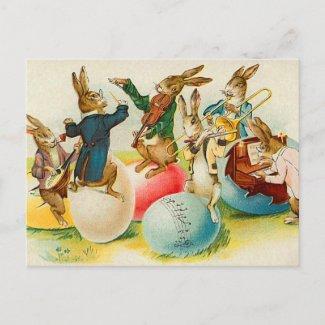 Vintage Easter Bunny Postcard postcard