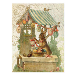 Vintage easter stamps gifts on zazzle vintage easter bunny postcard negle Images