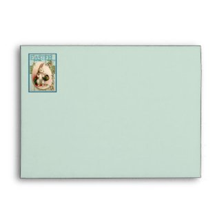Vintage Easter Bunny Printed Return Address Envelope