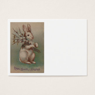Vintage Easter Bunny Rabbit Business Card