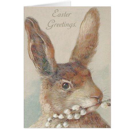 Vintage Easter Bunny Rabbit Card