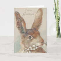Vintage Easter Bunny Rabbit Holiday Card