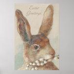 Vintage Easter Bunny Rabbit Print