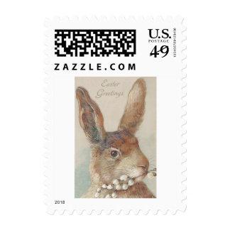 Vintage Easter Bunny Rabbit Stamp