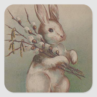Vintage Easter Bunny Rabbit Stickers