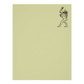 Vintage Easter Bunny Recycled Letterhead Paper 2