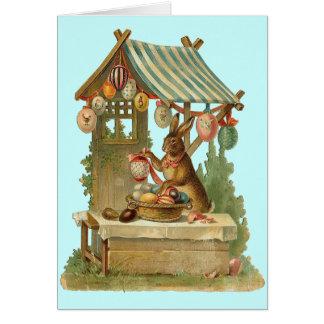Vintage Easter Bunny Roadside Egg Stand Card