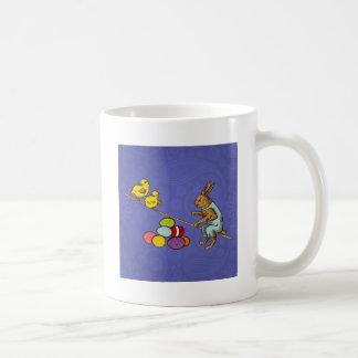 Vintage Easter Bunny with chicks and Easter eggs Coffee Mug