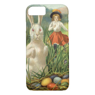 Vintage Easter Bunny with Eggs and Children iPhone 7 Case