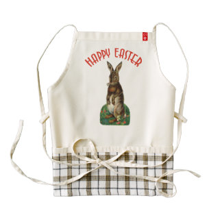 Vintage Easter Bunny Zazzle HEART Apron