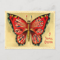 Vintage Easter Butterfly Postcard