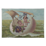 Vintage Easter Card Children Sailing Place Mat