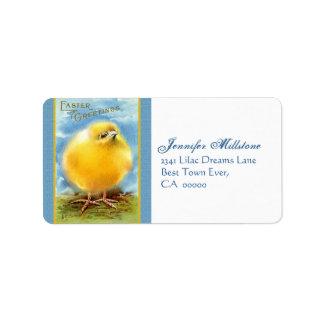 Vintage Easter Chick Address Label