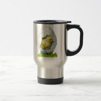 Vintage Easter Chick And Easter Egg Travel Mug
