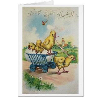 Vintage Easter Chick Easter Card