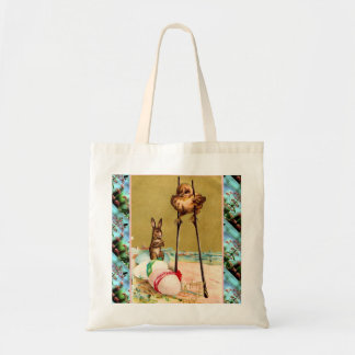 Vintage Easter,  Chick on stilts Tote Bag