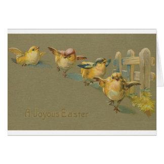 Vintage Easter Chick Parade Easter Card