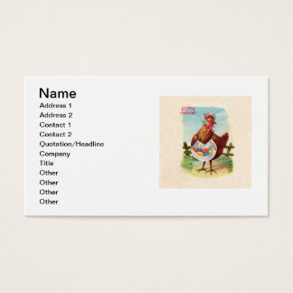 Vintage Easter Chicken and Easter Eggs Business Card