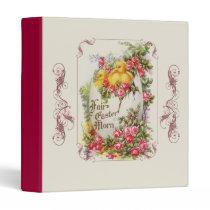 Vintage Easter Chicks and Roses Binder