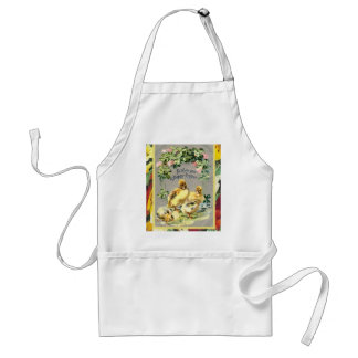 Vintage Easter, chicks and spring flowers Adult Apron
