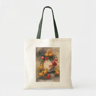 Vintage Easter Chicks and Victorian Tulips Tote Bag