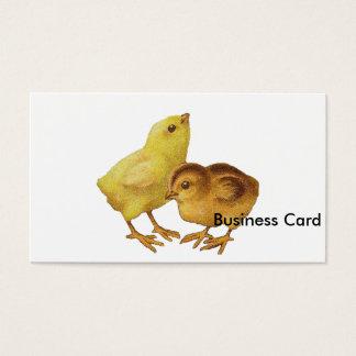 Vintage Easter Chicks Business Card