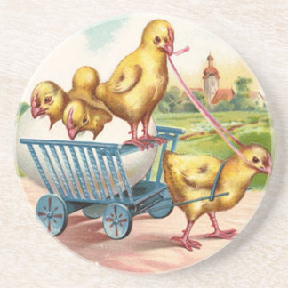 Vintage Easter Chicks Coasters