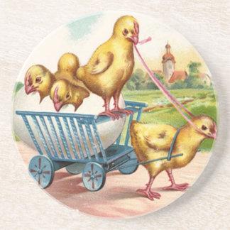 Vintage Easter Chicks Coasters