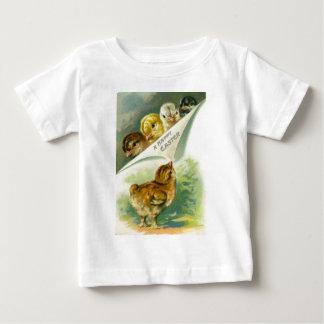 Vintage Easter Chicks Easter Card Baby T-Shirt