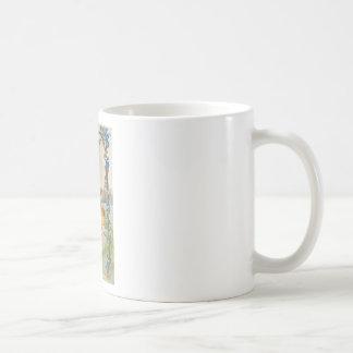 VINTAGE EASTER CHICKS IN EGG SWING GREETINGS COFFEE MUG
