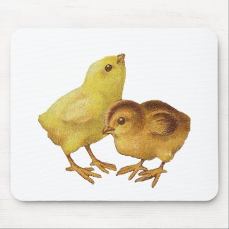 Vintage Easter Chicks Mouse Pad