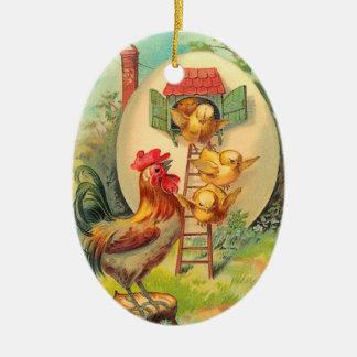 Vintage Easter Chicks Ornament