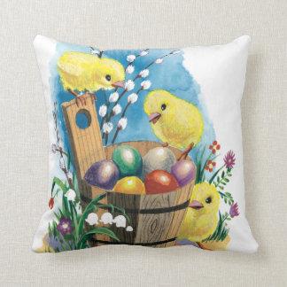 Vintage Easter chicks pillow