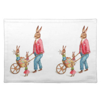 Vintage : easter - cloth placemat