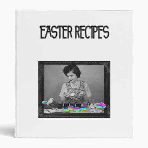 Vintage Easter Cooking Binders