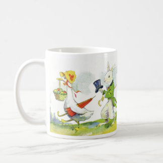 Vintage Easter Design Child's Mug-Dressed Animals Coffee Mug