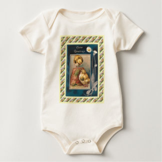 Vintage Easter design from 1930s Baby Bodysuit