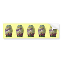 Vintage Easter Egg Bumper Sticker