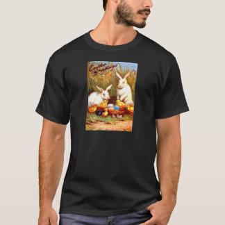 Vintage Easter Egg Bunny Chicks Easter Card T-Shirt
