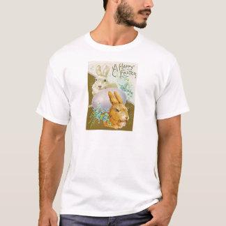 Vintage Easter Egg Bunny Easter Card T-Shirt