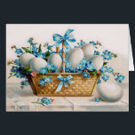 """Vintage Easter Egg Card<br><div class=""""desc"""">Beautiful Victorian Easter greetings are always a special treat. Now a bit of vintage can be yours to enjoy or give away. Vintage Easter Greeting Cards.</div>"""
