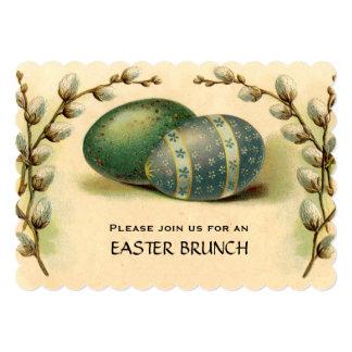 Vintage Easter Egg Dogwood Easter Brunch 5x7 Paper Invitation Card