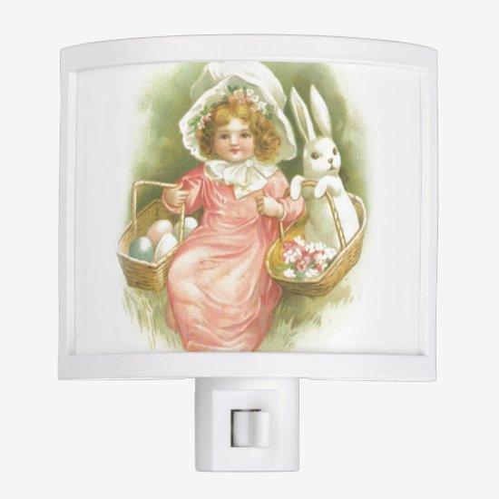 Vintage Easter Egg Gathering Night Light