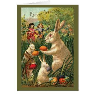 Vintage Easter Egg Hunt Greeting Card