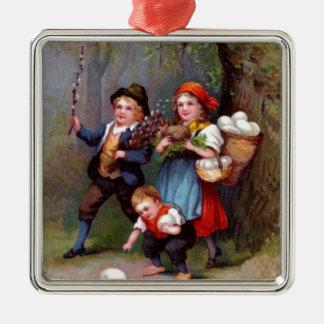 Vintage Easter Egg Hunters Ornament
